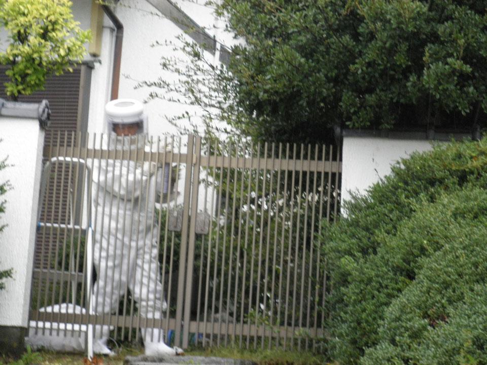 空き家のスズメバチ退治実施
